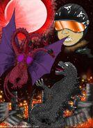 Godzilla vs queen ghidorah by saintnick14-d7s2wa6