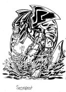 Servopent SPN3 Card Original Artwork Solo