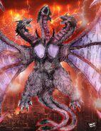 Godzilla battle royale queen ghidorah by avgk04-d8ahhq7