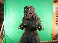 Hyper Godzilla in front of a green screen