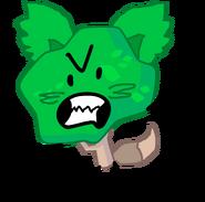 Angered tree fox