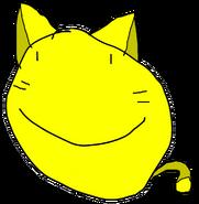 Cat Yellow Face