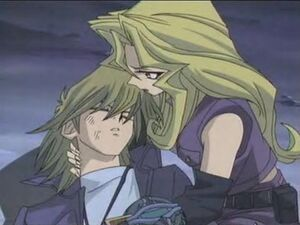 Mai holding onto Jou
