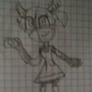 Primer boceto de Caroline, se iba a llamar Vidian e iba a ser una alce.