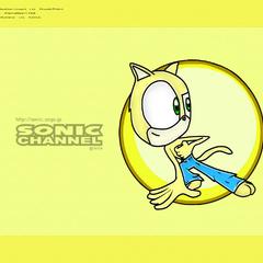 Fondo de pantalla de Sonic Channel con el anterior diseño de Delta, hecho por <a href=