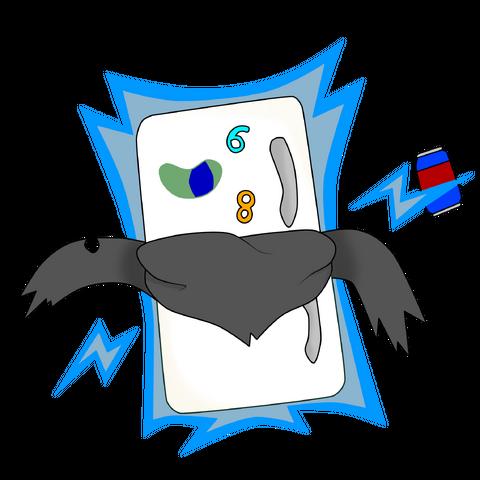 Yamitsuki en su forma fantasma tomando el control de un refrigerador