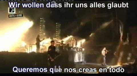 Rammstein - Ich will (Subtitulada en Español y Ale