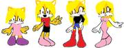Sonic Female base models by SonicAngel948