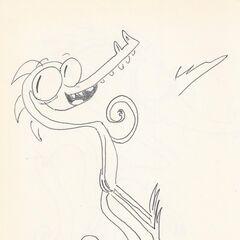 Uno de los primeros dibujos de un <a href=