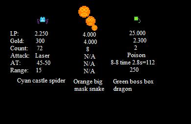 Mountain 2 enemies stats