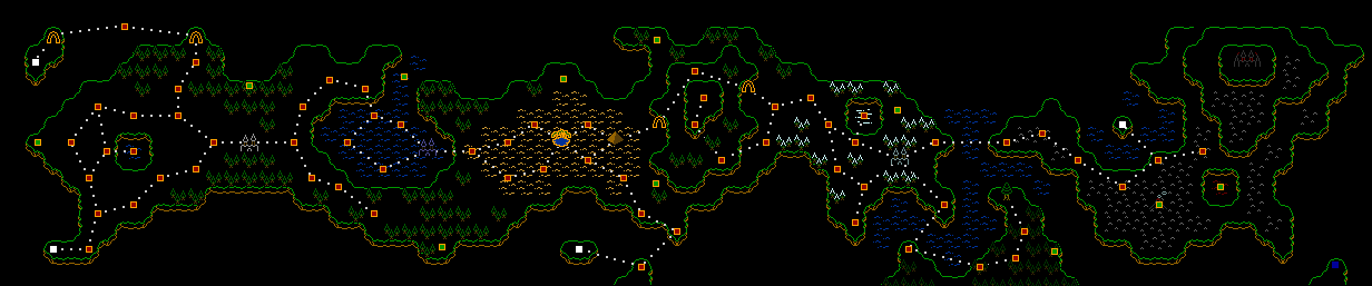 Almost complete world map hidden stages