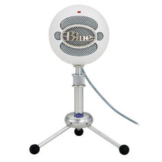 Blue snowball white microfono usb blanco