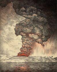 300px-Krakatoa eruption lithograph