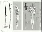 Tsubasa Kazanari 21-Weapons -Sword and Katana Compare