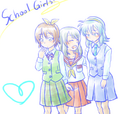 Cross Fight B-Daman School Girls.png