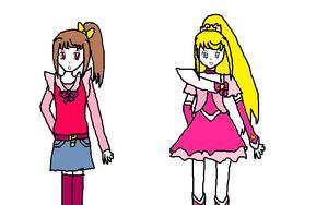 Hoshiyama Umeko and Cure Starlight