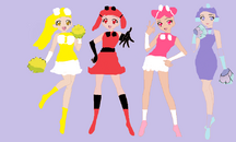 Oricorio Precure Official Group Pose