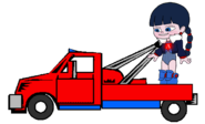 Adorabeezle in a Tow Truck 5