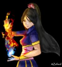 Azelia, portret