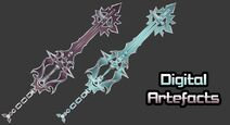 Mmd dl digital artefact sword art keyblade by makaihana975 dddp8wg-pre