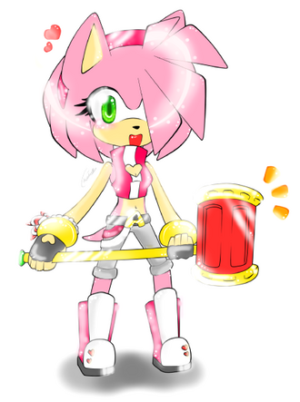 Amy rose hammer time 1 by cherribonbons321-d5abb77