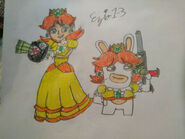 Mario rabbids princess daisy and rabbid daisy by ezio1 3 dbwoy7v-pre