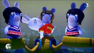 Black Hair Cheerleader Rabbids
