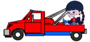 Adorabeezle in a Tow Truck