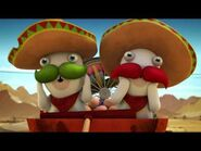 Green Mustache Mexican Rabbid and Red Mustache Mexican Rabbid