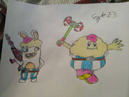 Mario rabbids mallow and rabbid mallow by ezio1 3 dbwoyaa-pre