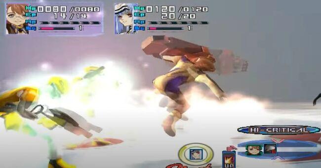 Shion Uzuki Doing a Spin Kick for Xenosaga Episode 1 (8)