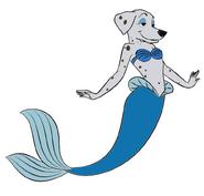 Perdita the Mer-Dalmatian