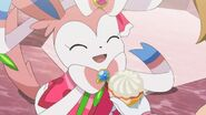Serena sylveon being encourged
