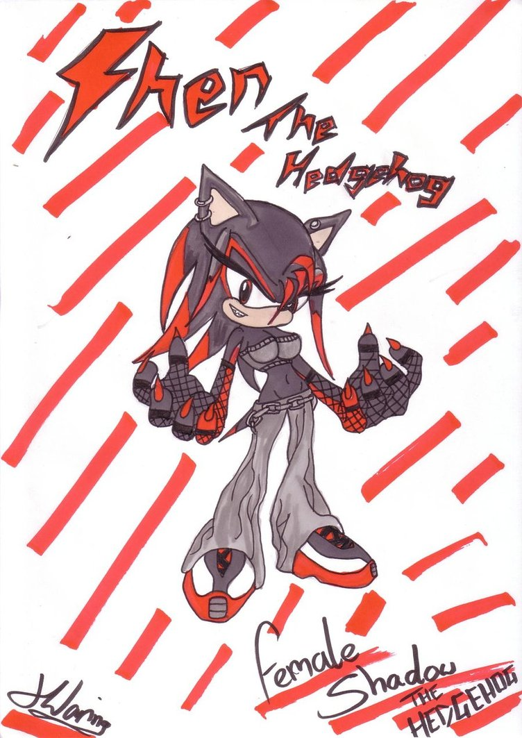 image female shadow the hedgehog shen by chantellethehedgie
