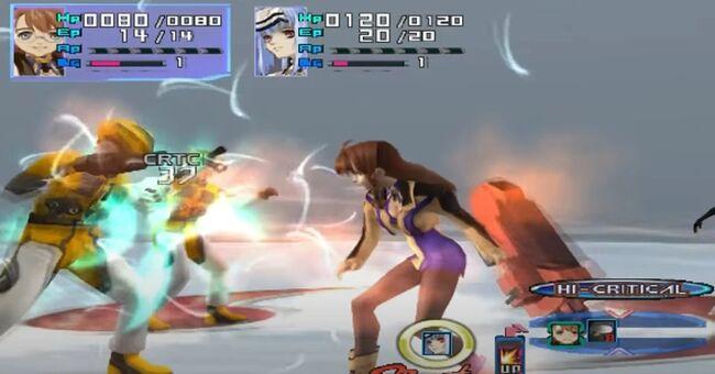 Shion Uzuki Doing a Spin Kick for Xenosaga Episode 1 (13)
