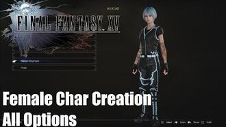 Final Fantasy XV Comrades DLC - Full Female Character Creation Detailed PS4