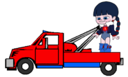 Adorabeezle in a Tow Truck 6