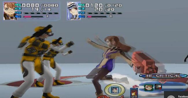 Shion Uzuki Doing a Spin Kick for Xenosaga Episode 1 (3)