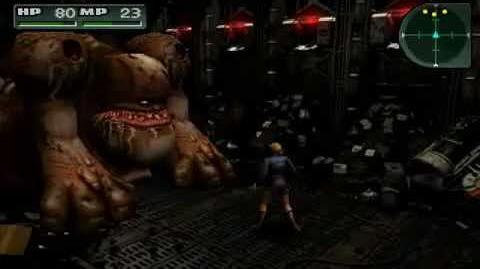 (Parasite Eve II) Aya is eaten by the Glutton
