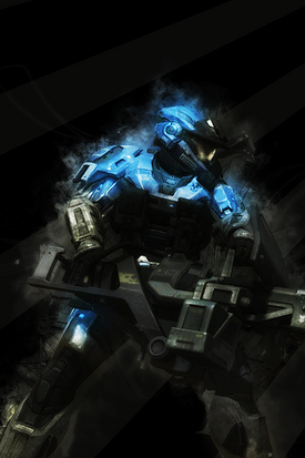 Halo Reach Blue Wallpaper by ChaoticAces