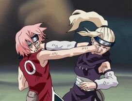 Sakura Ino punch