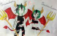 Killer&HunterAddison Addison twins Devil Level 2 design
