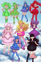 11 Wonders Precure Team in doll divine