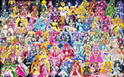 91 Pretty Cure Warriors with Fairies