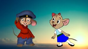 Fievel and Olivia in Love Survives