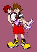 Sora and Kairi by purplelemon