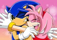 Amy glomps sonic