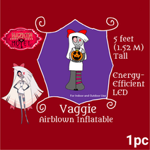 Airblown Inflatable Vaggie With Pumpkin Box