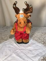 Animated 18'' Moose Sings ''Grandma Got Run Over By A Reindeer''