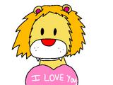 Valentine's Lion